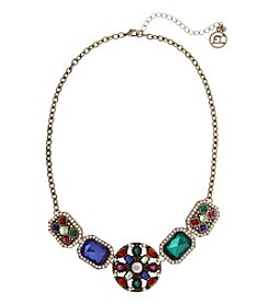 Erica Lyons Goldtone Multi-Stone Necklace
