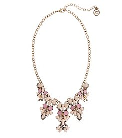 Erica Lyons Goldtone Pink 3-Drop Necklace