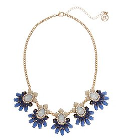Erica Lyons Goldtone Blue Clusters Necklace