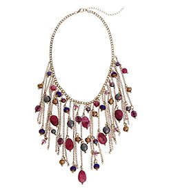 Erica Lyons Goldtone Long Purple Reign Necklace