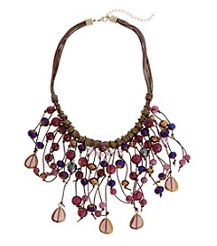 Erica Lyons Goldtone Short Purple Reign Necklace