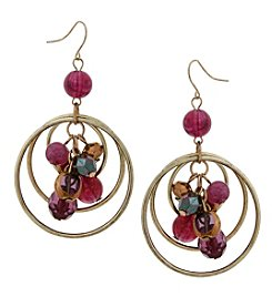Erica Lyons Goldtone Large Orbital Earrings