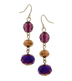 Erica Lyons Goldtone 3-Drop Earrings