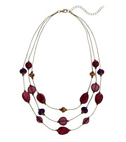 Erica Lyons Goldtone Short Illusion Necklace