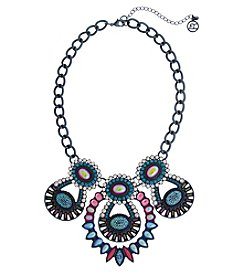 Erica Lyons Hematite Multicolor 3-Loop Necklace