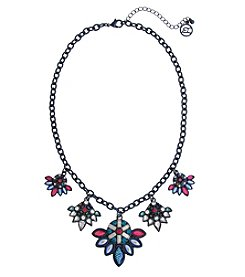 Erica Lyons Hematite Multicolor 5-Cluster Necklace