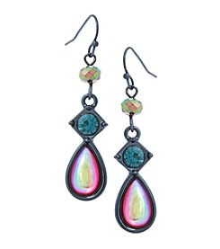 Erica Lyons Hematite Multi 3 Drop Earrings
