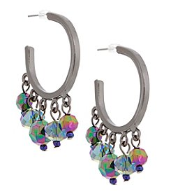Erica Lyons Hematite Multi Hoop Earrings