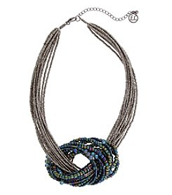 Erica Lyons Hematite Short Multi Knot Necklace