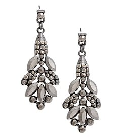 Erica Lyons Hematite Drop Cluster Earrings