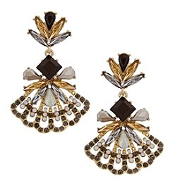 Erica Lyons Goldtone Fandrop Earrings