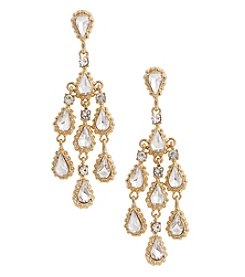 Erica Lyons Goldtone Shower Crystal Earrings