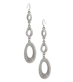 Erica Lyons Silvertone Gradual 3 Drop Earrings