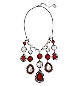 Erica Lyons Hematite Better Off Red Necklace