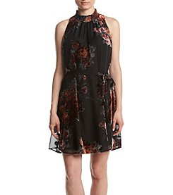 DR2 by Daniel Rainn Black Sleeveless Smock Neck Shift Dress