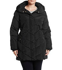 Steve Madden Plus Size Chevron Down Jacket