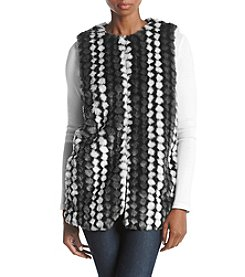 Fever Dot Pattern Faux Fur Vest