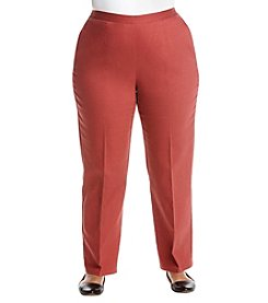 Alfred Dunner Plus Size Solid Pants