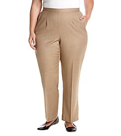 Alfred Dunner Plus Size Stretch Waistband Pants