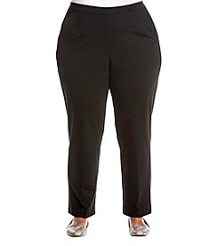 Alfred Dunner Plus Size Ponte Pants