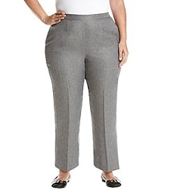 Alfred Dunner Plus Size Silver Short Pant