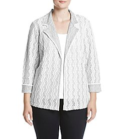 Alfred Dunner Plus Size Printed Jacket
