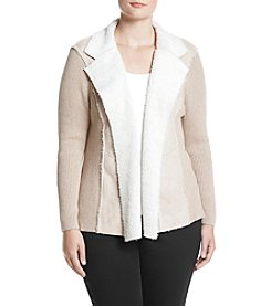 Alfred Dunner Plus Size Sherpa Jacket