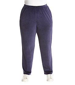 Alfred Dunner Plus Size Velour Pants