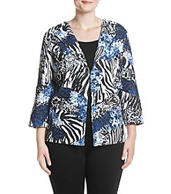 Alfred Dunner Plus Size Floral Jacket