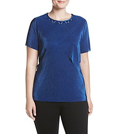 Alfred Dunner Plus Size Textured Knit Top
