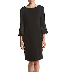 Calvin Klein Embellished Bell Sleeve Dress