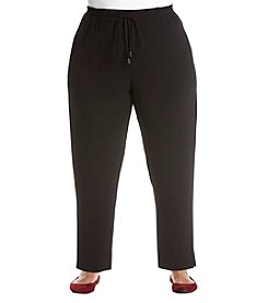 Bobeau Plus Size Crepe Pull On Pant