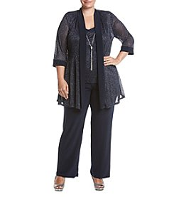 R&M Richards Plus Size Sparkle Pantsuit