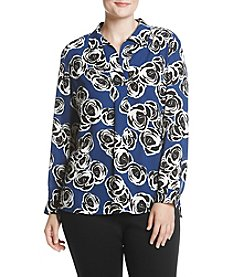 Jones New York Plus Size Floral Tunic Woven