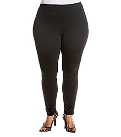 Ruff Hewn Plus Size Faux Pocket Detail Leggings