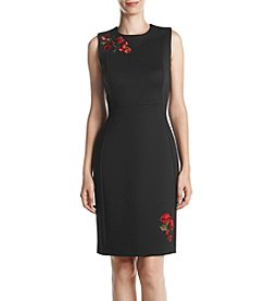 Calvin Klein Floral Embroidered Sheath Dress