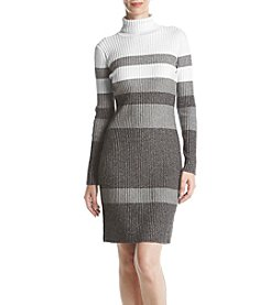 Calvin Klein Vertical Striped Sweater Dress
