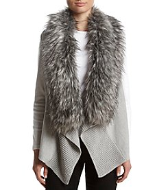 MICHAEL Michael Kors Fur Trim Sweater Vest