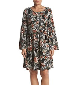 Studio Works Petites' Floral Bell Sleeve Fit And Flare Dress