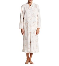 Miss Elaine Quilted Floral Pattern Robe
