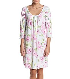Miss Elaine Short Floral Print Nightgown
