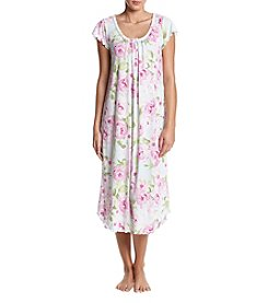 Miss Elaine Long Floral Print Gown