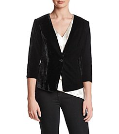 Kensie Velvet Single Button Blazer