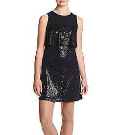 Kensie Sequin Popover Dress