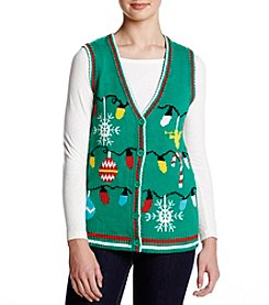 Eyeshadow Christmas Cardigan Vest