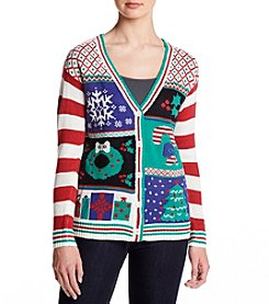 Eyeshadow Christmas Cardigan