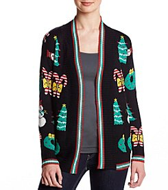 Eyeshadow Black Christmas Cardigan