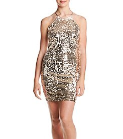 My Michelle Sequin Sheath Dress