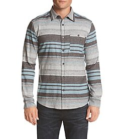 DVISION Men's Striped Flannel Button Down Shirt
