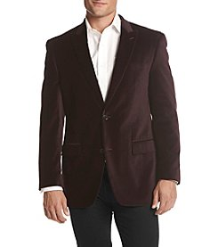 Michael Kors Men's Velvet Burgundy Sport Coat